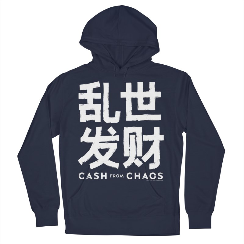 CASH FROM CHAOS - white print Women's Pullover Hoody by SIXTEN