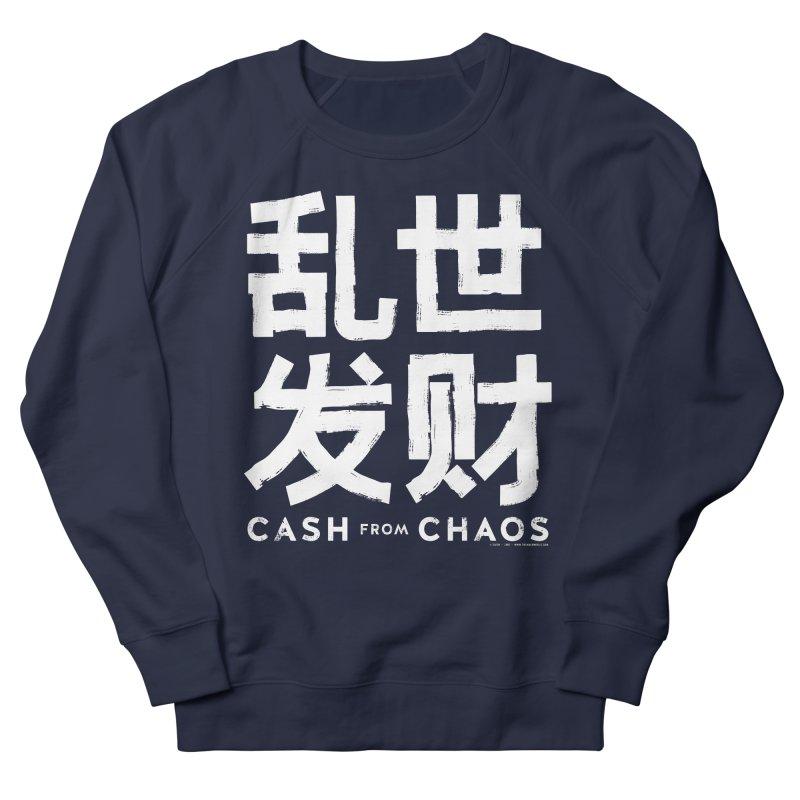 CASH FROM CHAOS - white print Women's Sweatshirt by SIXTEN