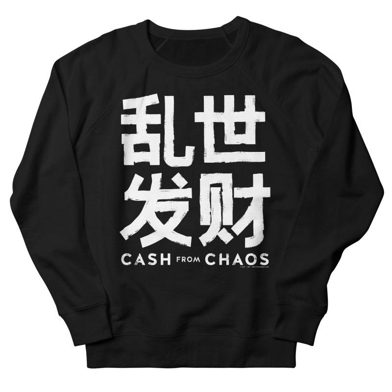 CASH FROM CHAOS - white print Men's Sweatshirt by SIXTEN