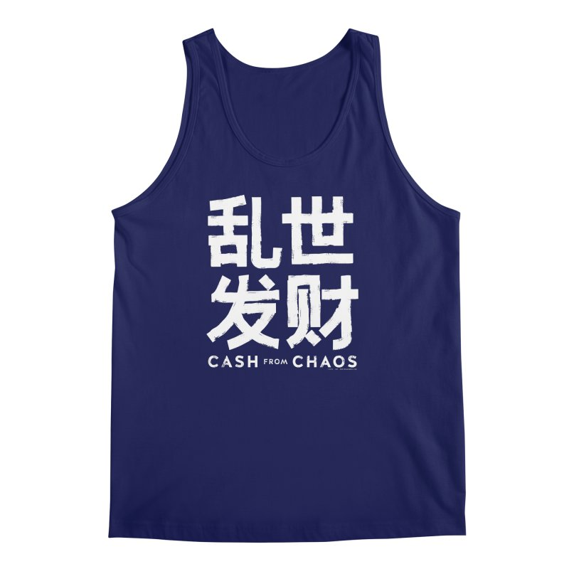 CASH FROM CHAOS - white print Men's Tank by SIXTEN