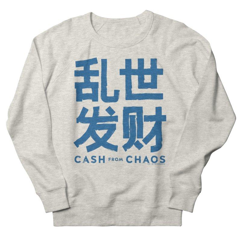 CASH FROM CHAOS - blue print Women's Sweatshirt by SIXTEN