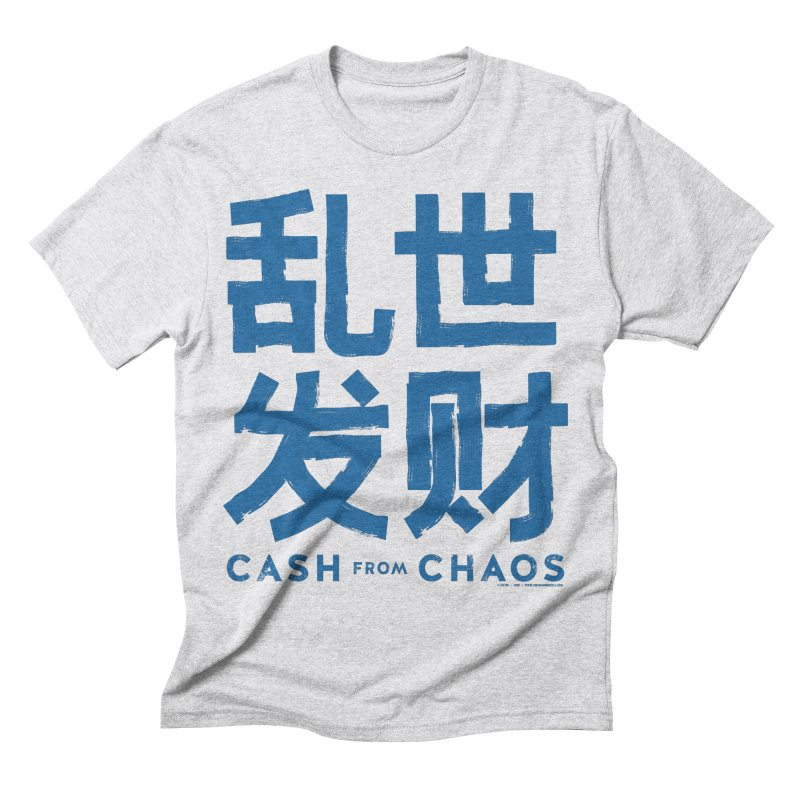 CASH FROM CHAOS - blue print Men's Triblend T-shirt by SIXTEN
