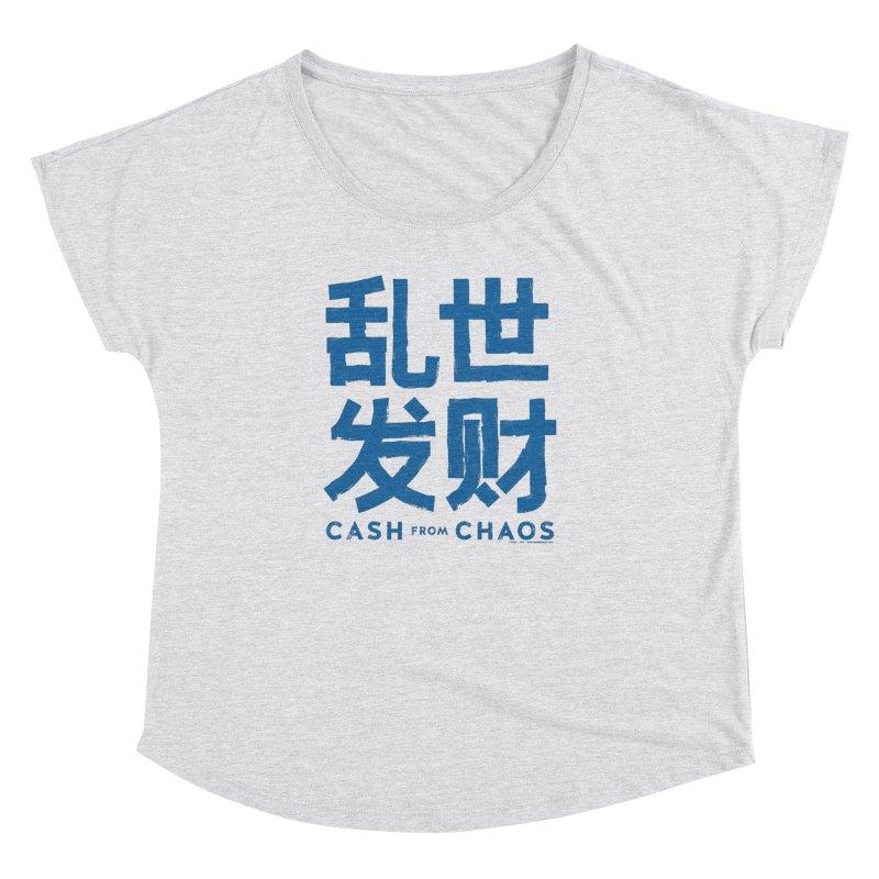 CASH FROM CHAOS - blue print Women's Dolman by SIXTEN