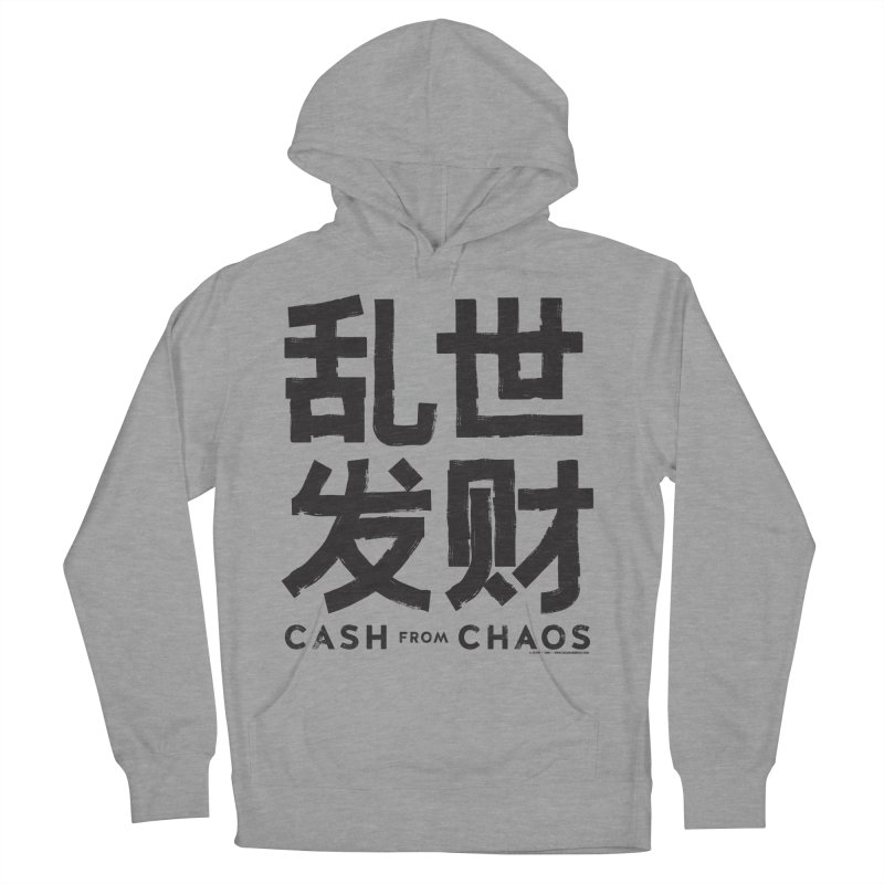 CASH FROM CHAOS - black print Women's Pullover Hoody by SIXTEN