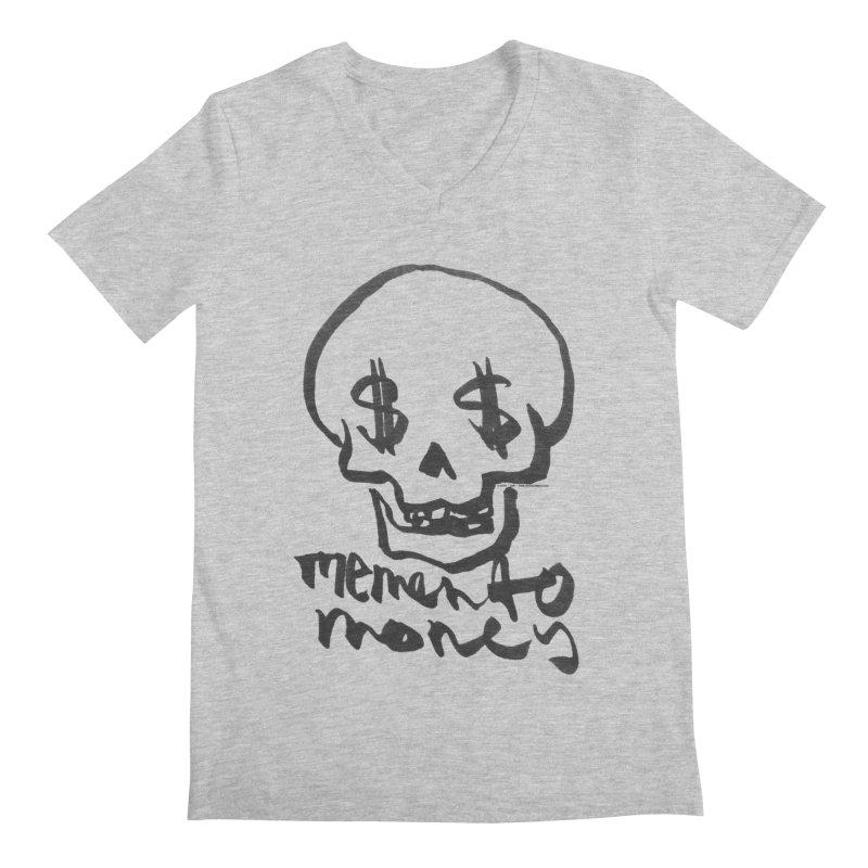 MEMENTO MONEY - black print Men's V-Neck by SIXTEN