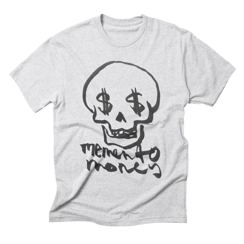 MEMENTO MONEY - black print Men's Triblend T-shirt by SIXTEN