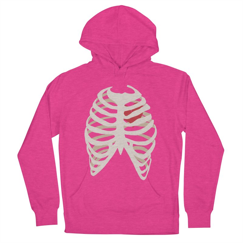 Caged heart Women's French Terry Pullover Hoody by Hello Siyi