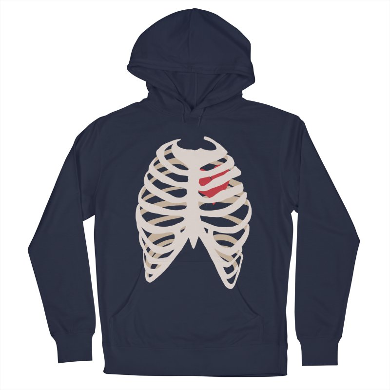 Caged heart Men's French Terry Pullover Hoody by Hello Siyi