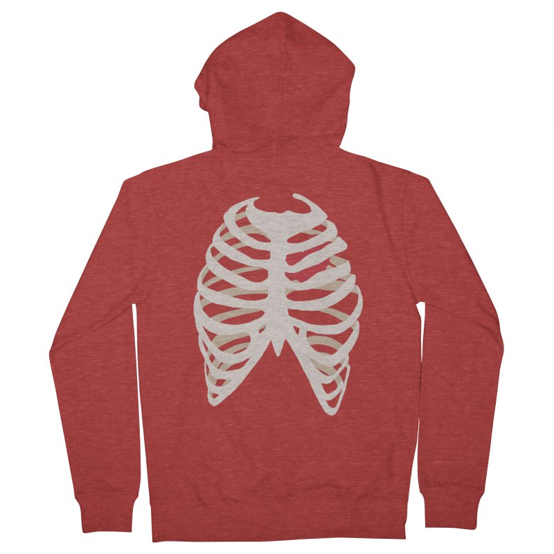 Caged heart Men's French Terry Zip-Up Hoody by Hello Siyi