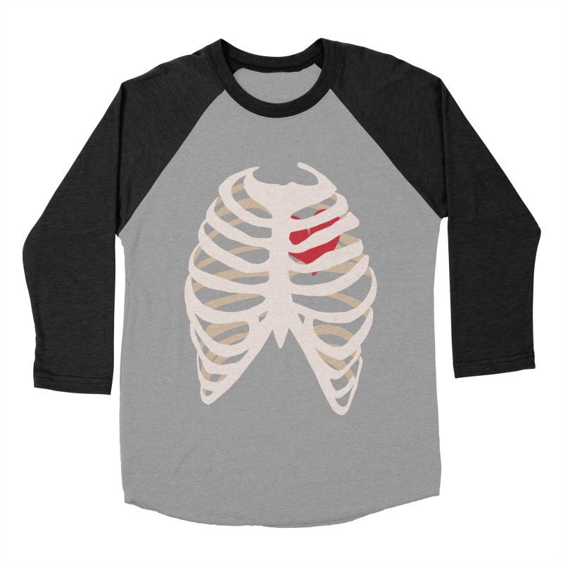Caged heart Women's Baseball Triblend Longsleeve T-Shirt by Hello Siyi