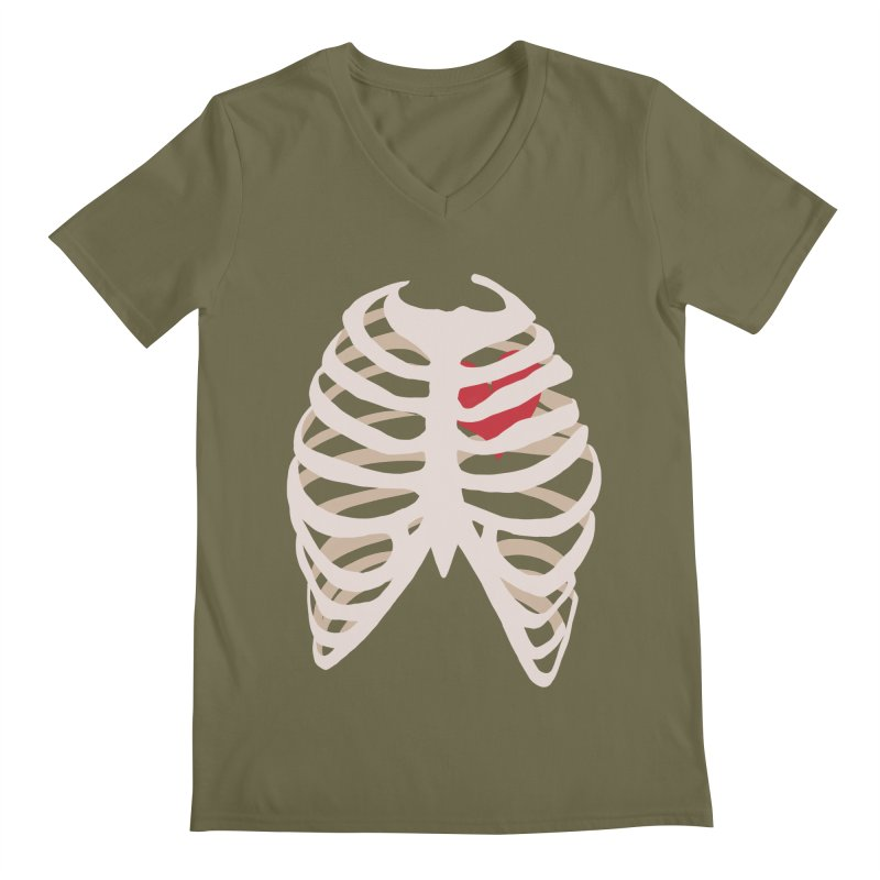 Caged heart Men's Regular V-Neck by Hello Siyi
