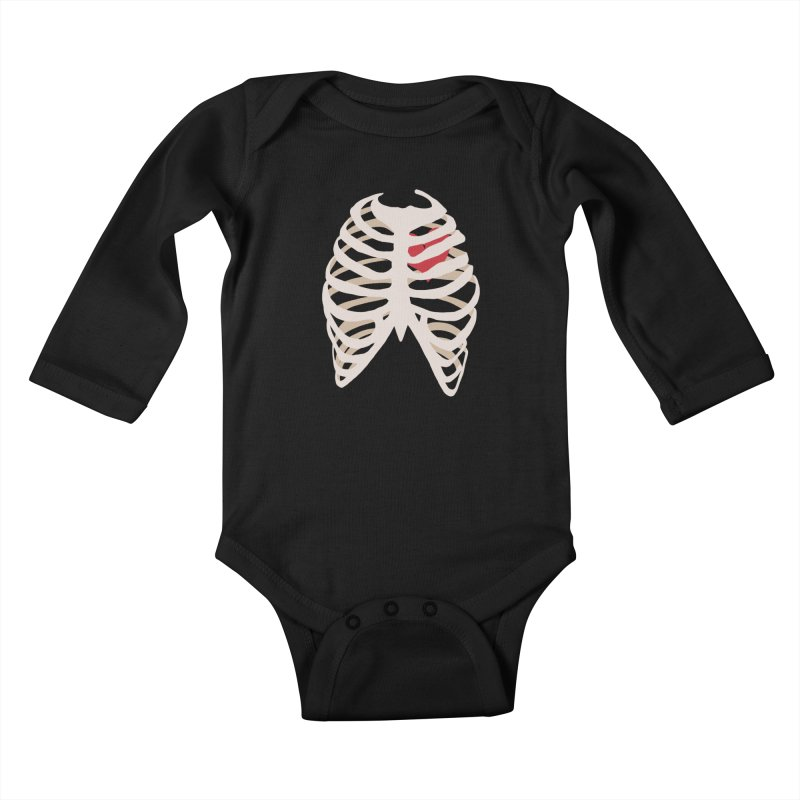 Caged heart Kids Baby Longsleeve Bodysuit by Hello Siyi