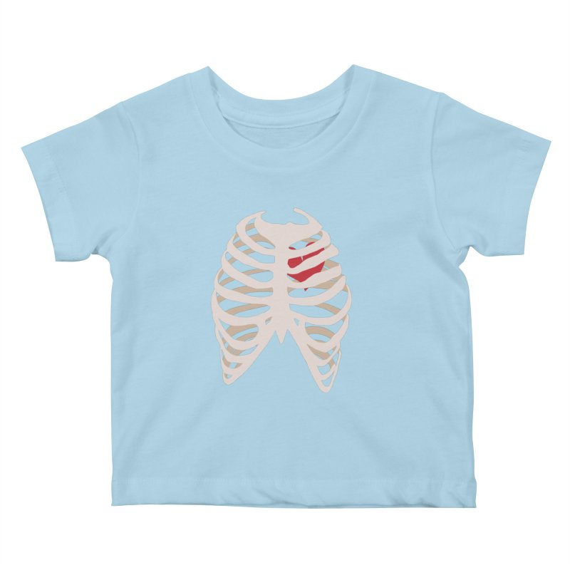 Caged heart Kids Baby T-Shirt by Hello Siyi