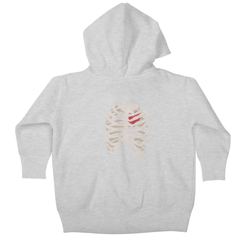 Caged heart Kids Baby Zip-Up Hoody by Hello Siyi
