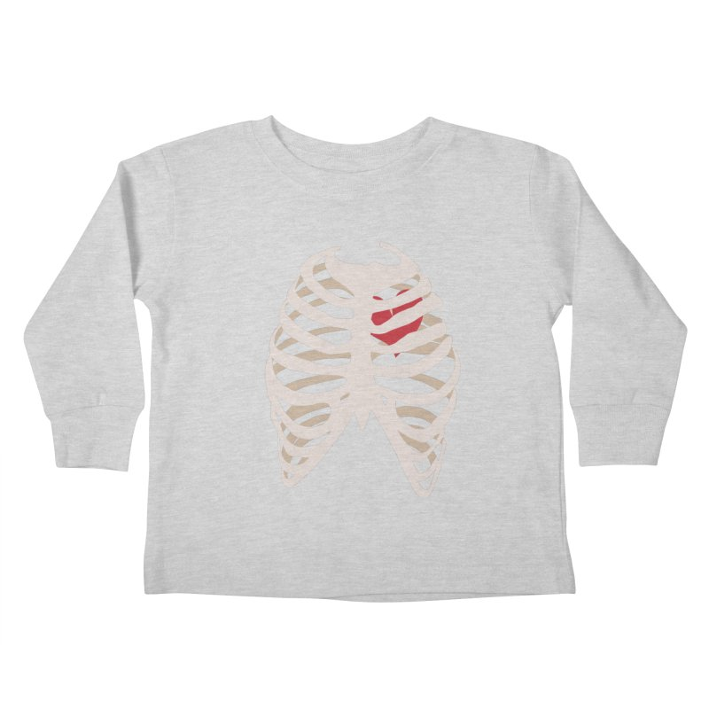 Caged heart Kids Toddler Longsleeve T-Shirt by Hello Siyi