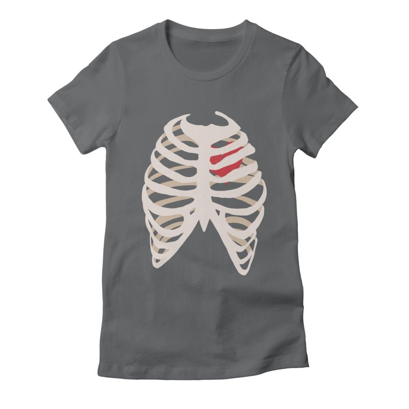 Caged heart Women's Fitted T-Shirt by Hello Siyi