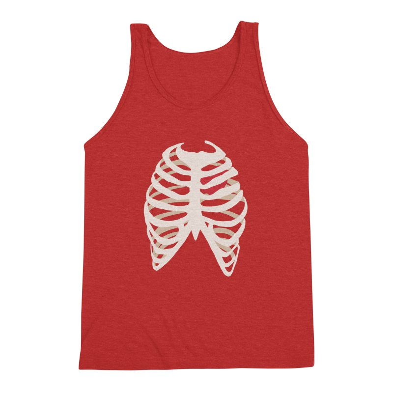 Caged heart Men's Triblend Tank by Hello Siyi