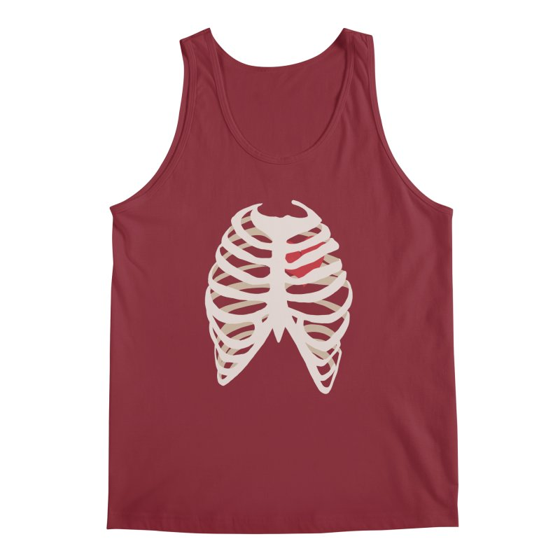 Caged heart Men's Regular Tank by Hello Siyi