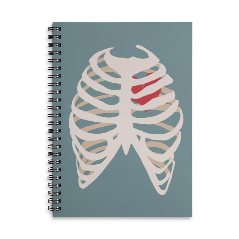 Caged heart Accessories Lined Spiral Notebook by Hello Siyi