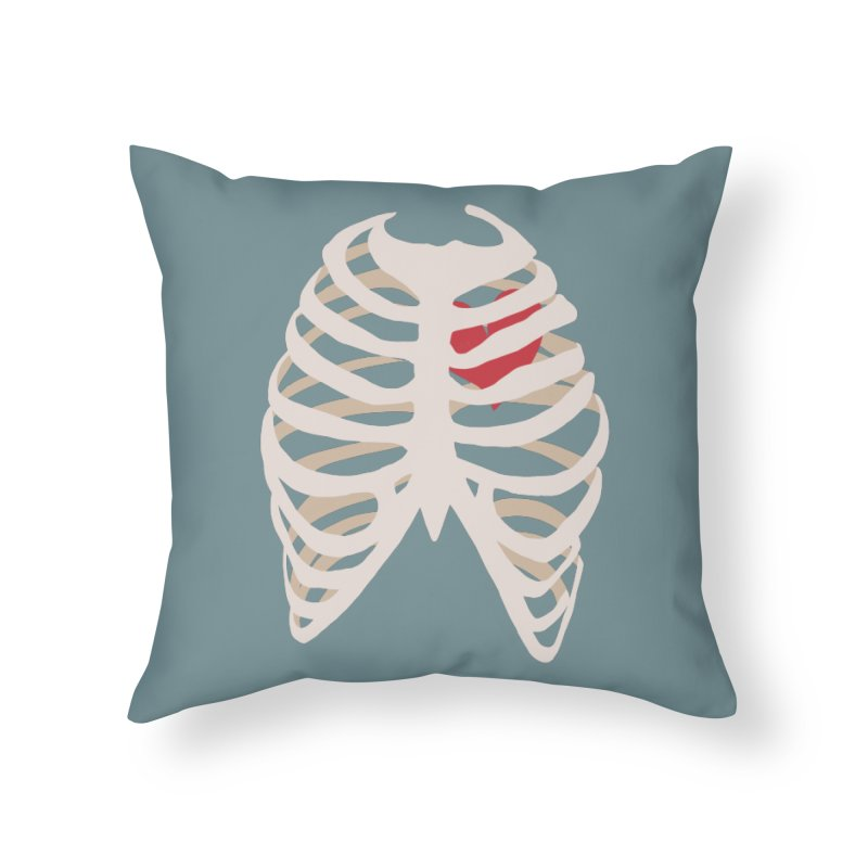 Caged heart Home Throw Pillow by Hello Siyi