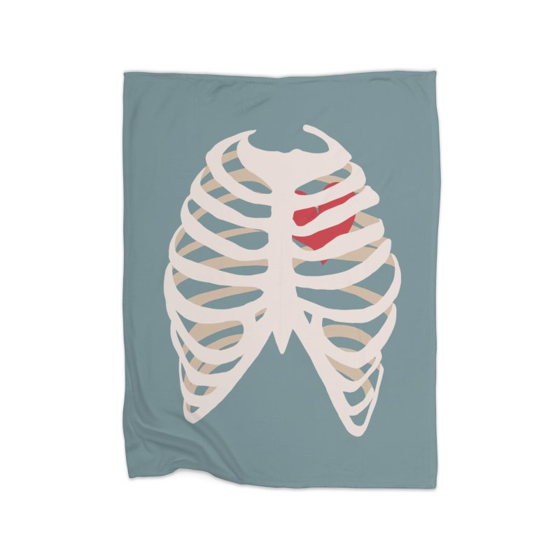 Caged heart Home Fleece Blanket Blanket by Hello Siyi
