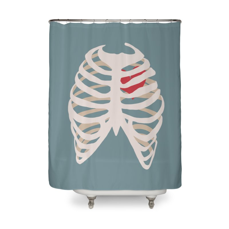 Caged heart Home Shower Curtain by Hello Siyi