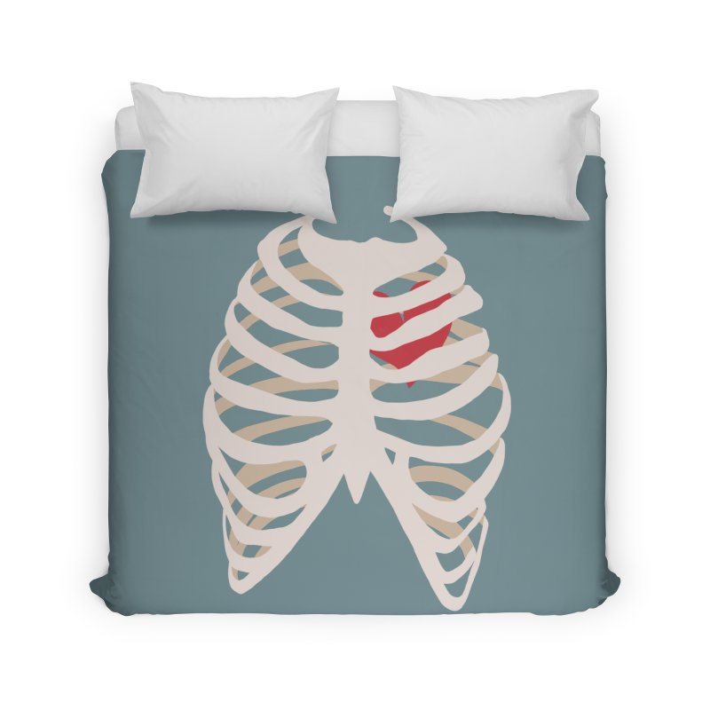 Caged heart Home Duvet by Hello Siyi