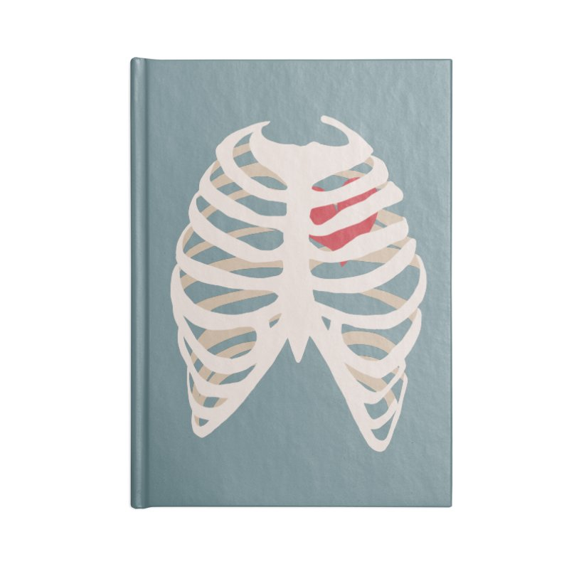 Caged heart Accessories Lined Journal Notebook by Hello Siyi