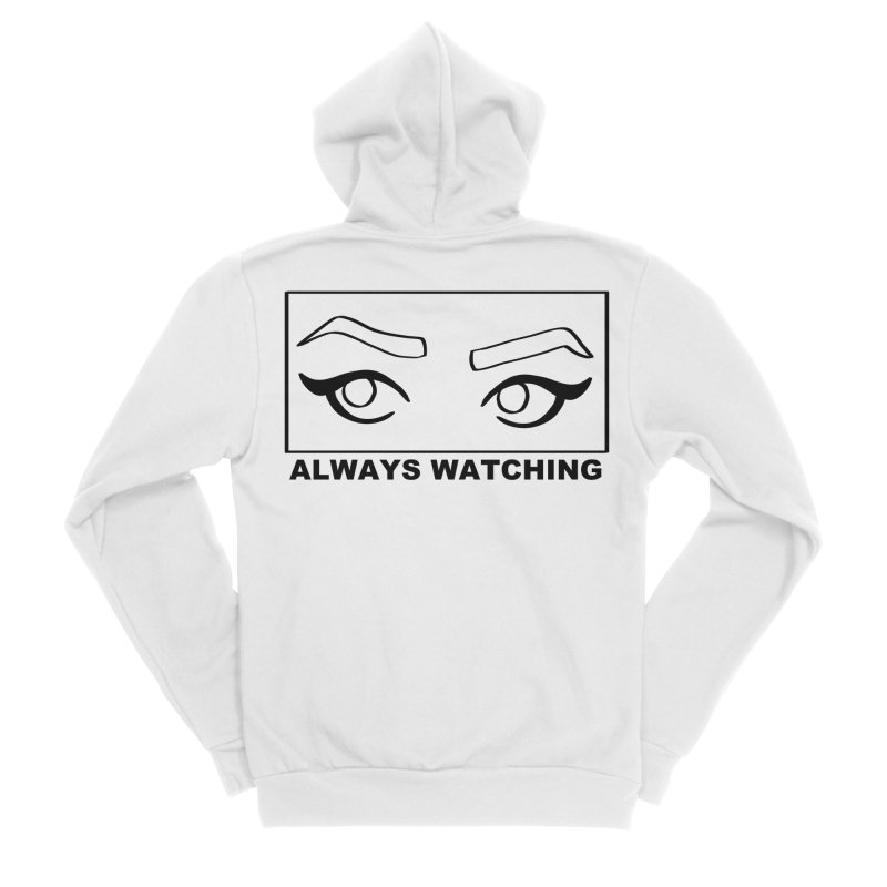Always watching Men's Sponge Fleece Zip-Up Hoody by Hello Siyi