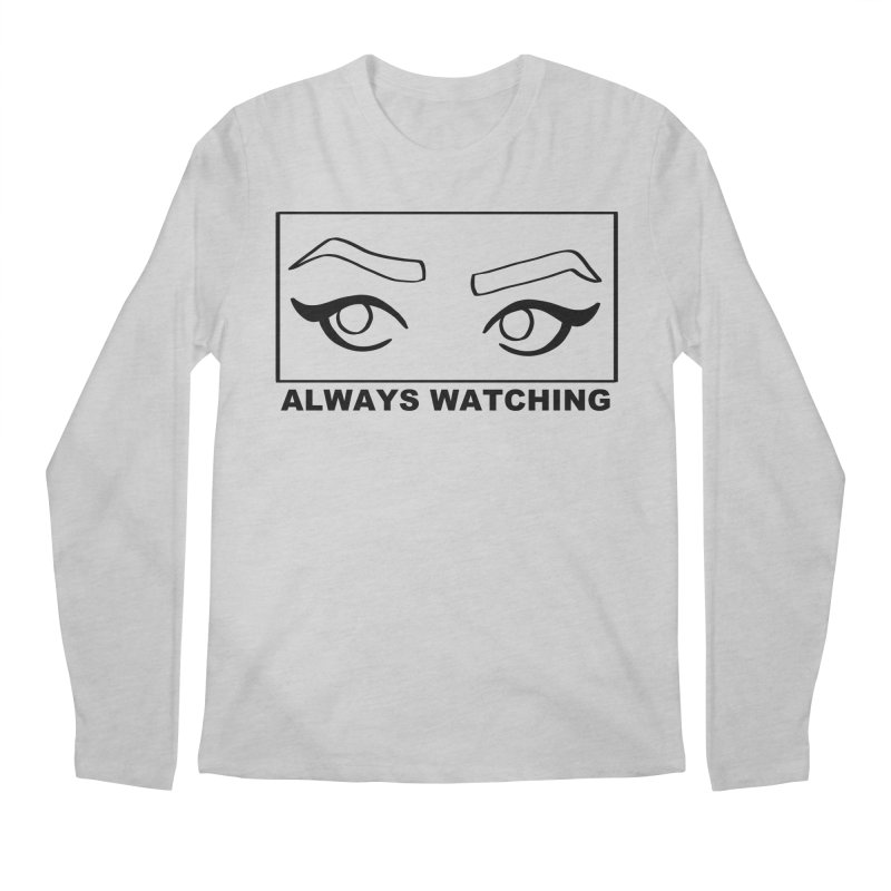 Always watching Men's Regular Longsleeve T-Shirt by Hello Siyi
