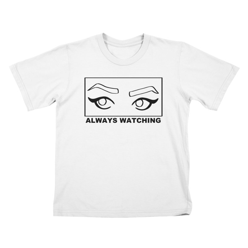 Always watching Kids T-Shirt by Hello Siyi