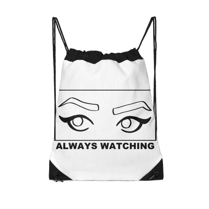 Always watching Accessories Drawstring Bag Bag by Hello Siyi