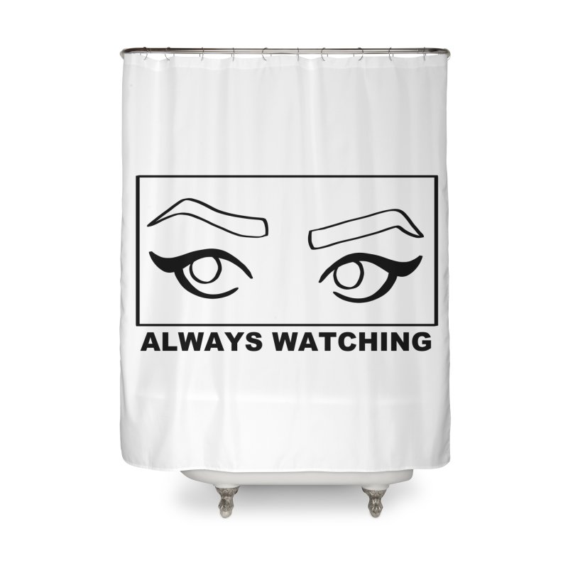 Always watching Home Shower Curtain by Hello Siyi