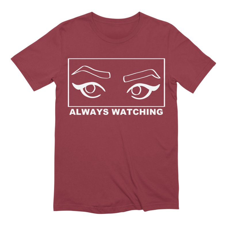 Always watching (on black) Men's Extra Soft T-Shirt by Hello Siyi