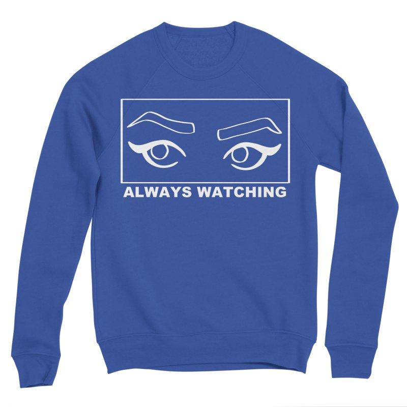 Always watching (on black) Men's Sponge Fleece Sweatshirt by Hello Siyi