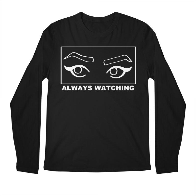 Always watching (on black) Men's Regular Longsleeve T-Shirt by Hello Siyi