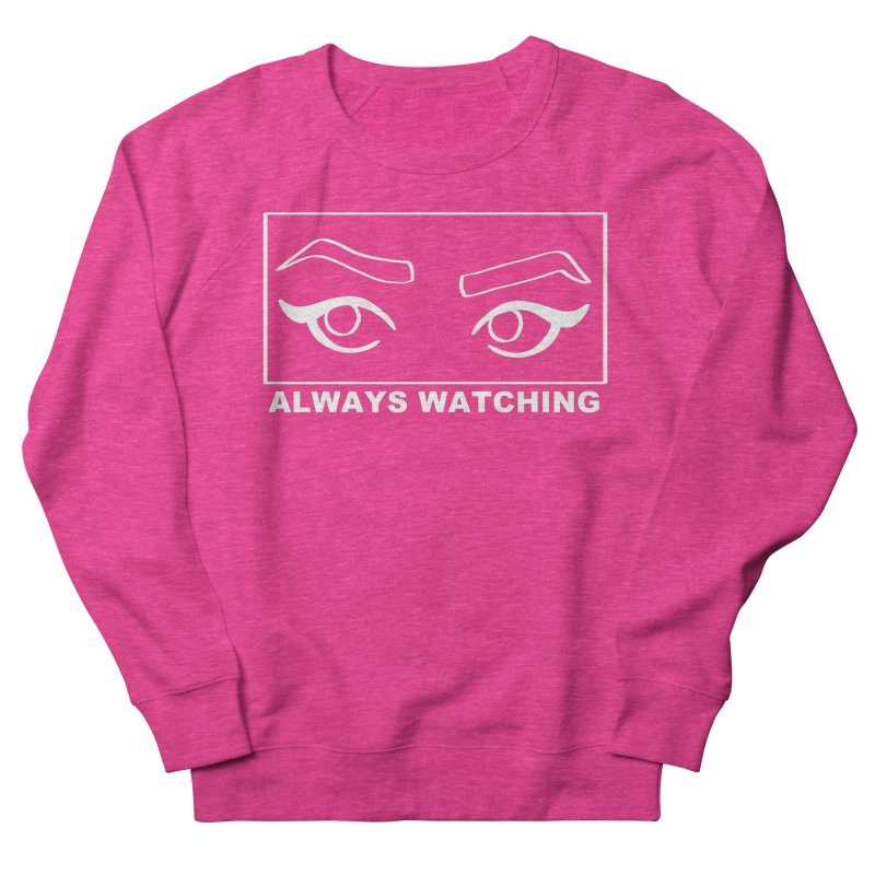Always watching (on black) Men's French Terry Sweatshirt by Hello Siyi