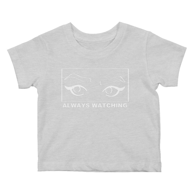 Always watching (on black) Kids Baby T-Shirt by Hello Siyi
