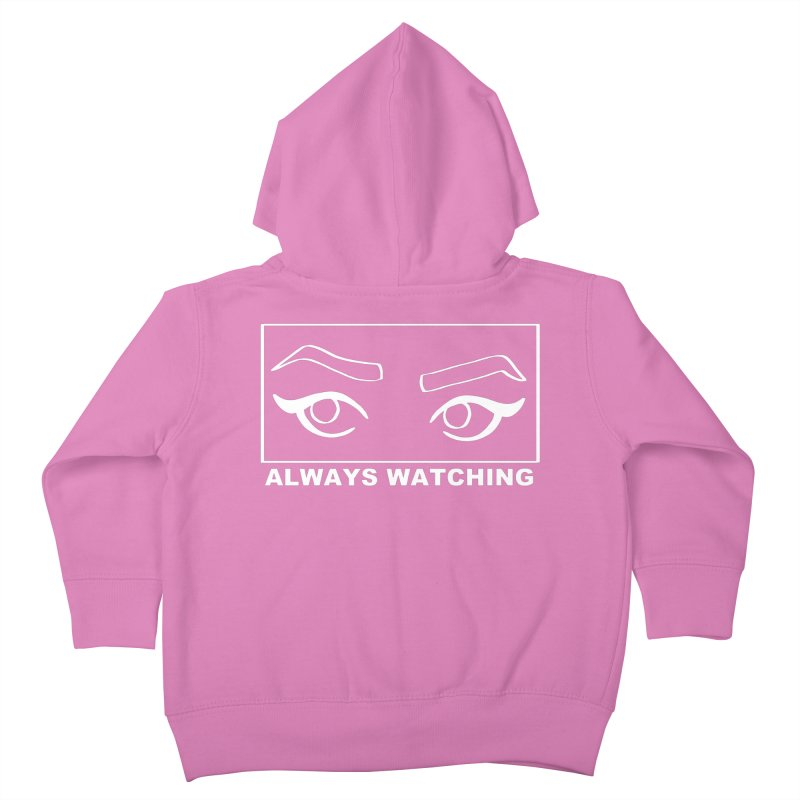 Always watching (on black) Kids Toddler Zip-Up Hoody by Hello Siyi