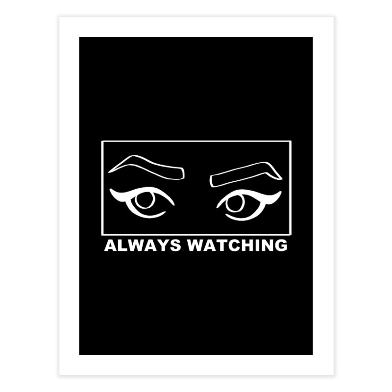 Always watching (on black) Home Fine Art Print by Hello Siyi