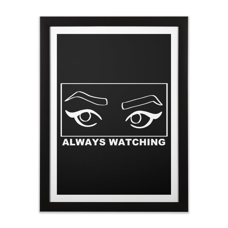 Always watching (on black) Home Framed Fine Art Print by Hello Siyi