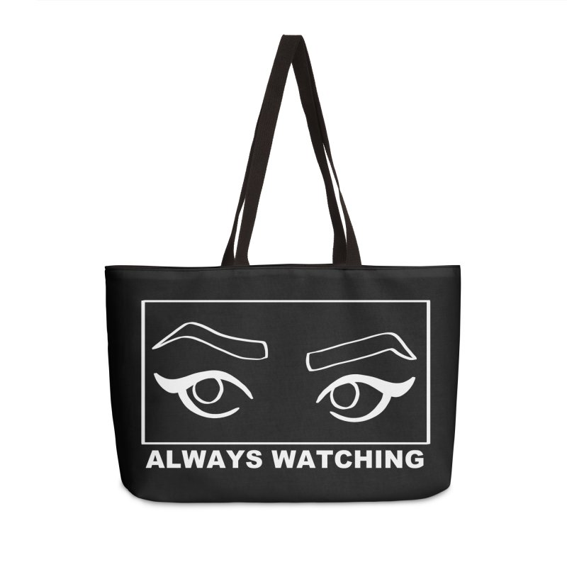 Always watching (on black) Accessories Weekender Bag Bag by Hello Siyi