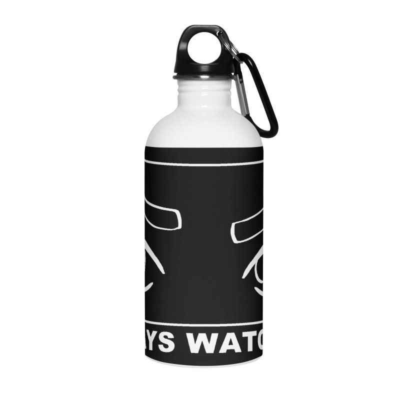 Always watching (on black) Accessories Water Bottle by Hello Siyi