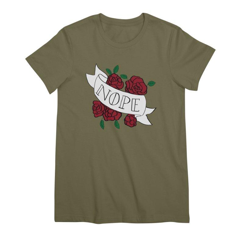Nope Women's Premium T-Shirt by Hello Siyi