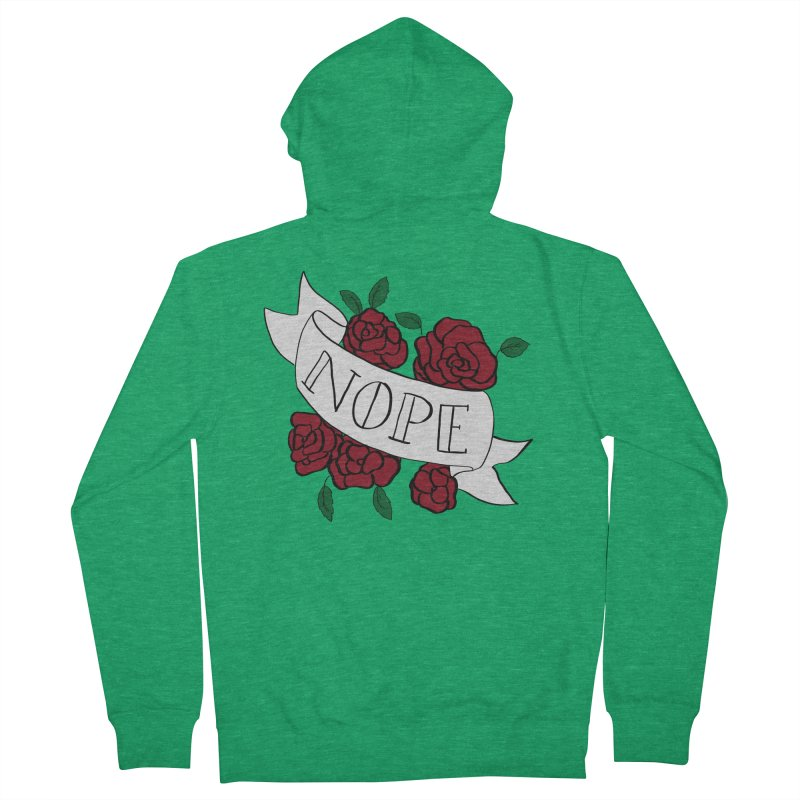 Nope Women's French Terry Zip-Up Hoody by Hello Siyi