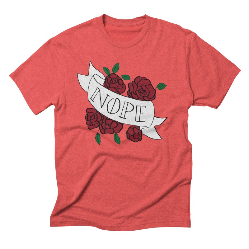 Nope Men's Triblend T-Shirt by Hello Siyi