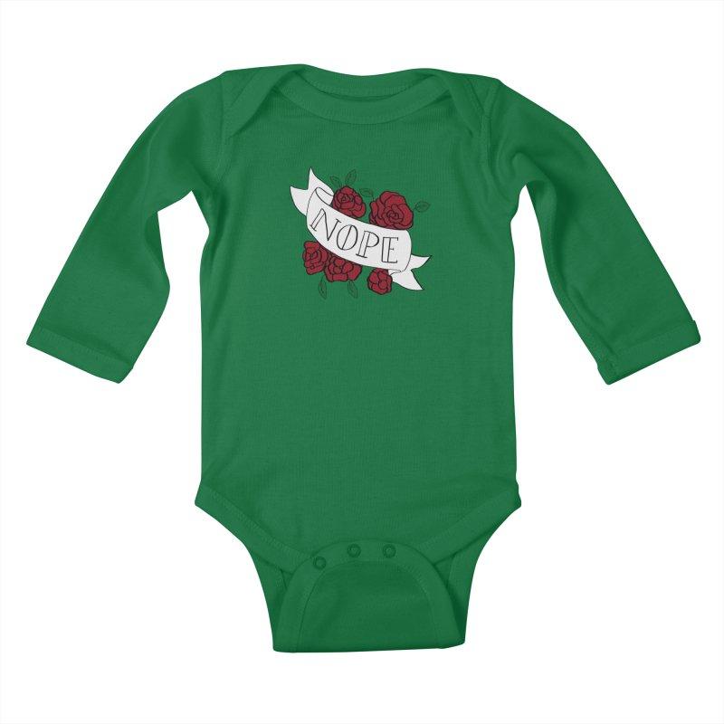 Nope Kids Baby Longsleeve Bodysuit by Hello Siyi