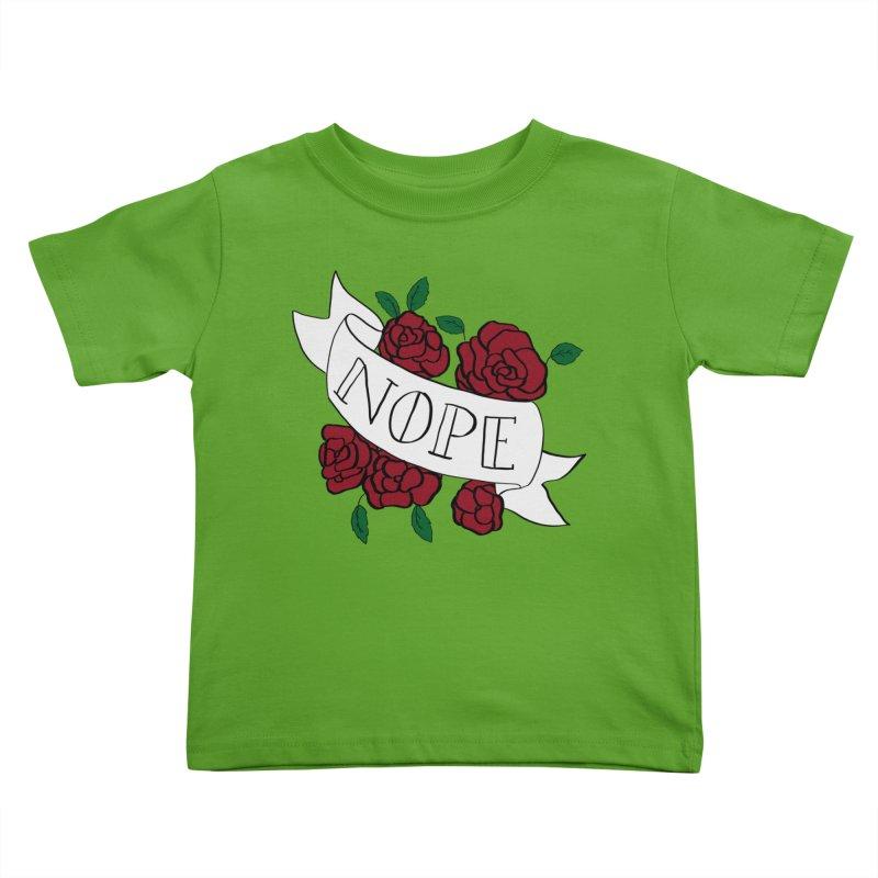 Nope Kids Toddler T-Shirt by Hello Siyi