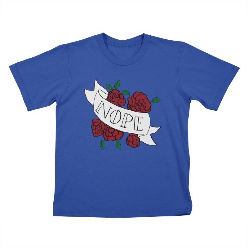 Nope Kids T-Shirt by Hello Siyi