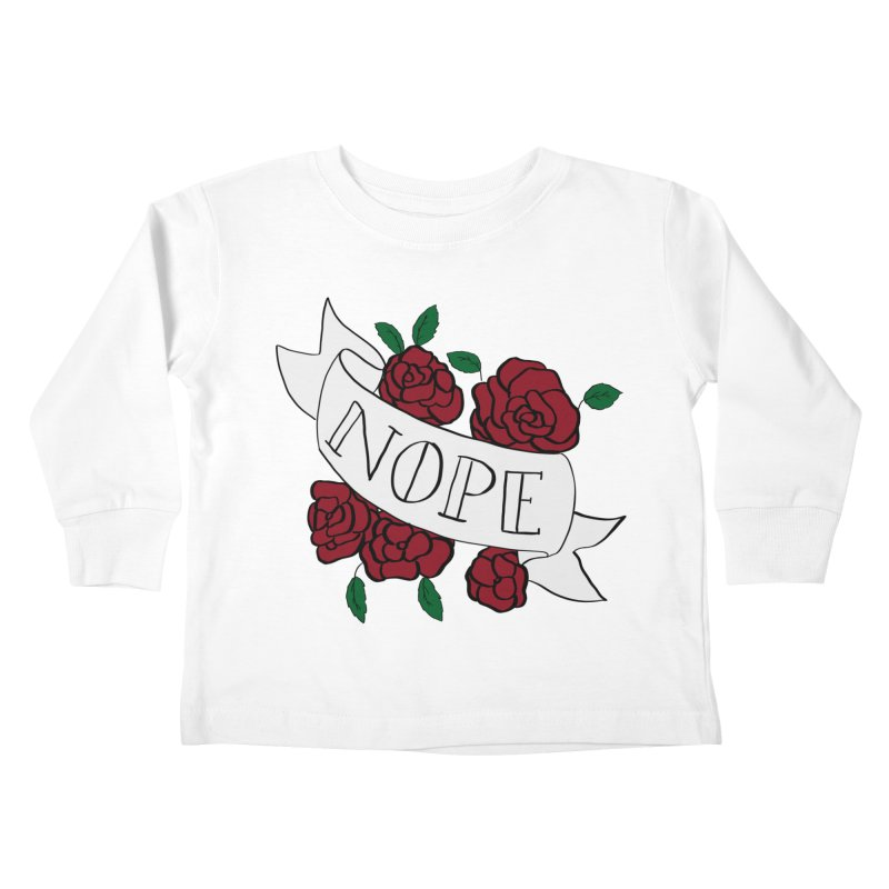 Nope Kids Toddler Longsleeve T-Shirt by Hello Siyi
